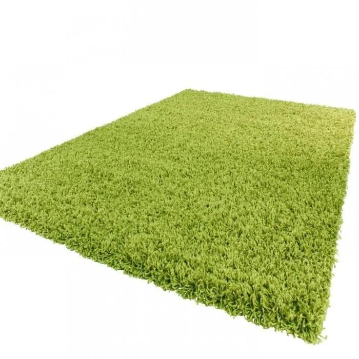 tapis shaggy longues meches en vert tapis shaggy longues meches en vert 200 cm carre