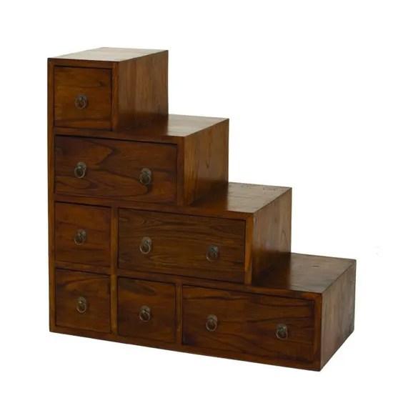 lola meuble de rangement escalier en bois massif l 76 cm