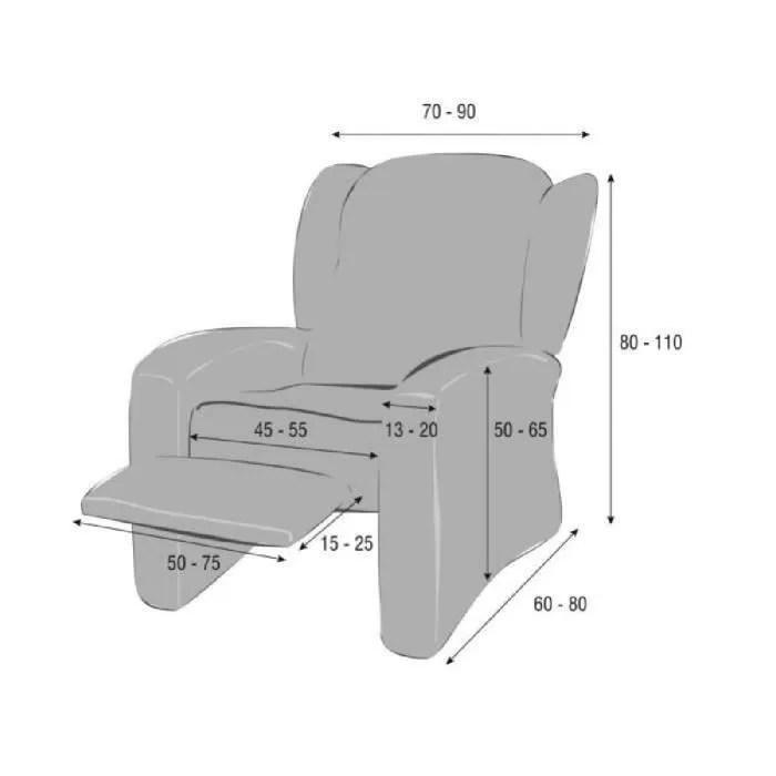 housse de fauteuil relax unie bi