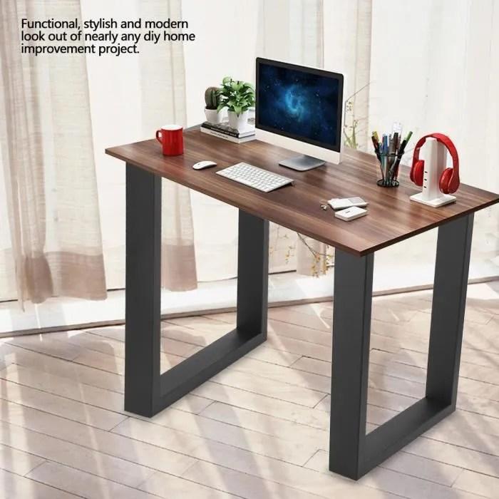 2pcs pieds de table de bureaux industrielle en acier soutient pour les meubles a la maison 60x72cm tip