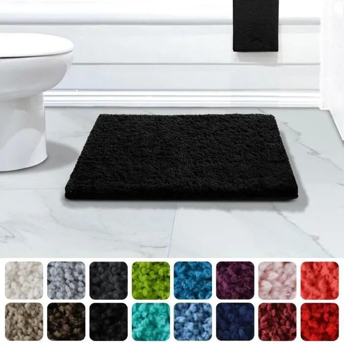 tapis de bain absorbant casa pura noir 50x60 cm