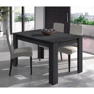 table de cuisine noir soldes