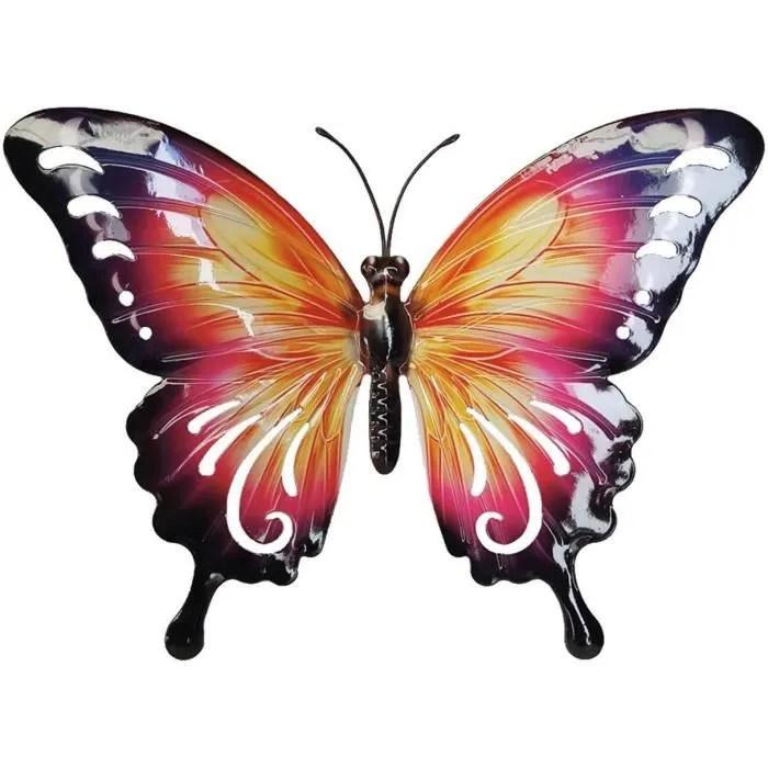 decoration murale metal papillon