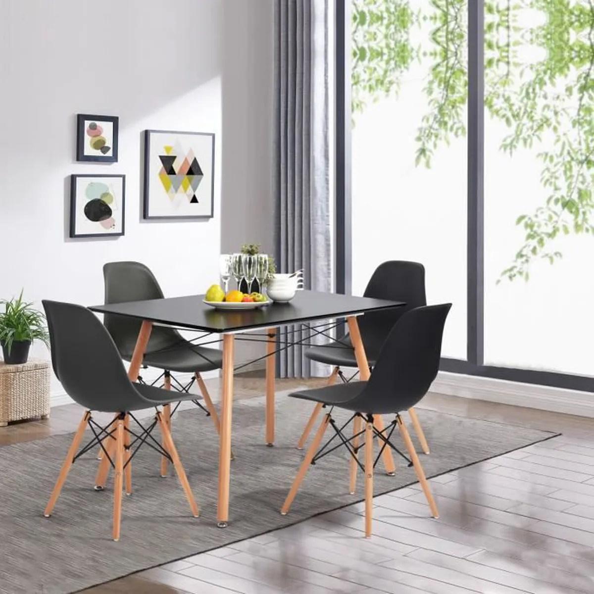 moderne noir table de salle a manger