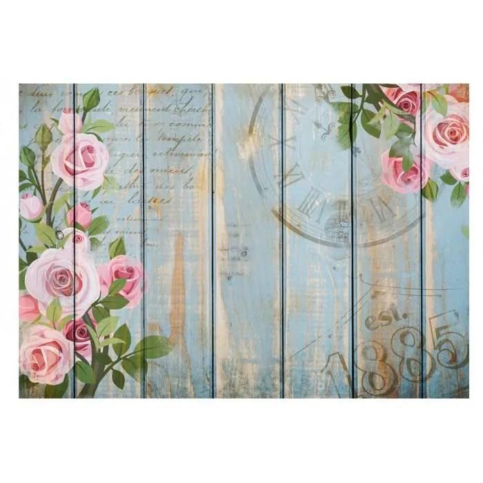 mesure 350x245 moderne papier peint roses retro