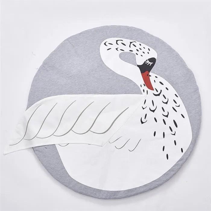 tapis d eveil cygne tapis de jeu rond en coton pou
