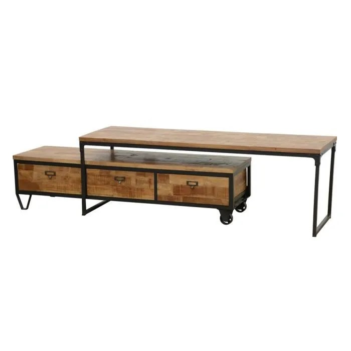 meuble tv extensible 3 tiroirs wolof
