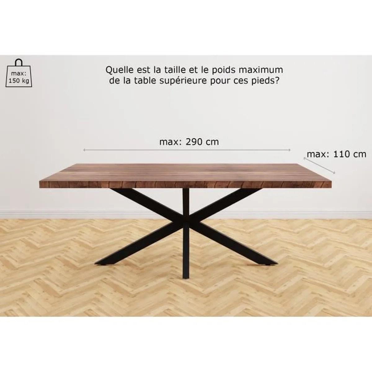 pied de table spider 1500x830x720 blanc