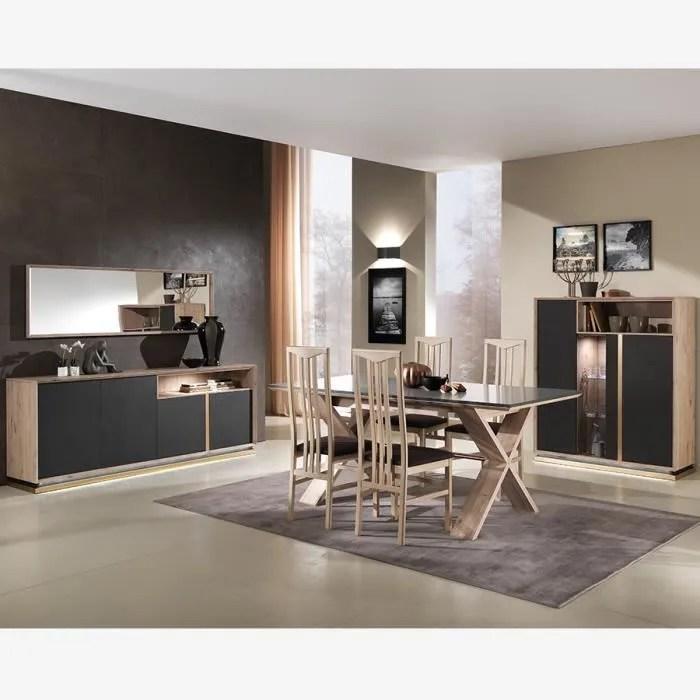 salle a manger moderne bois et gris