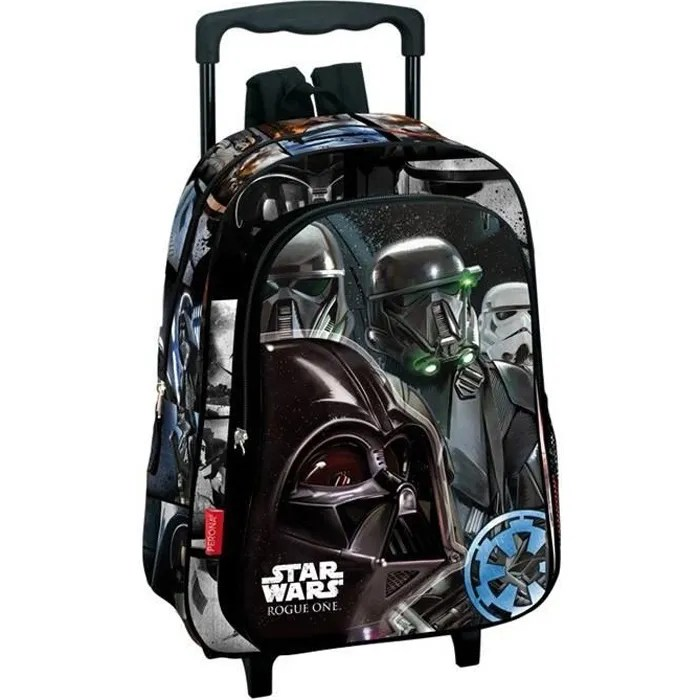 sac a dos a roulettes maternelle star wars imperial 37 cm trolley cartable