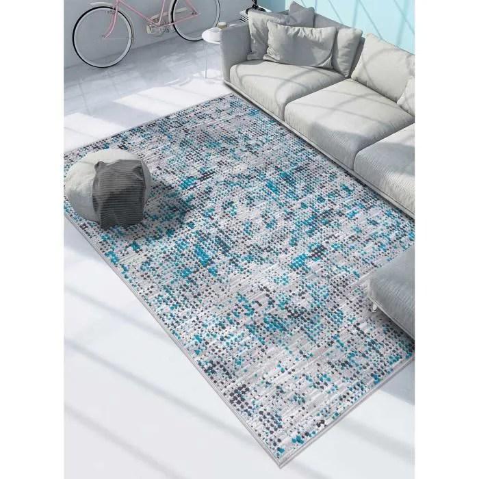 tapis moderne pour salon af fondu 160 x 230 cm bleu
