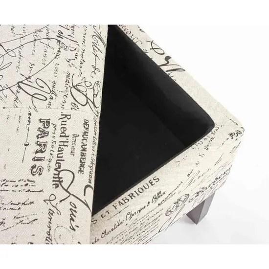 meubles noir banc coffre de rangement