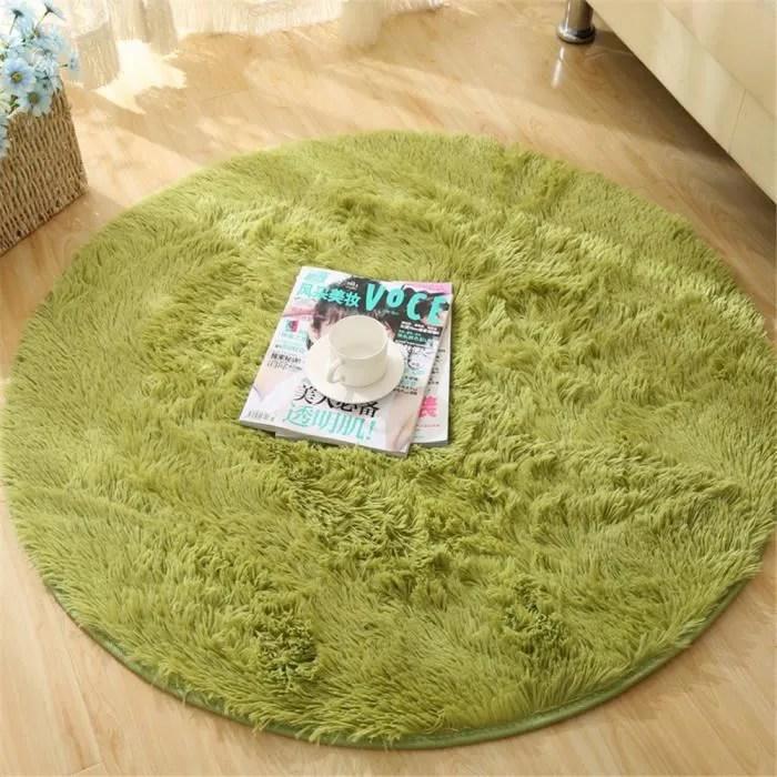 ohpa tapis vert doux ronde moquette de la chambre