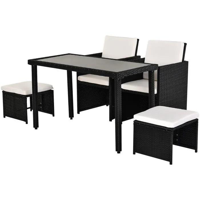 ensemble salon de jardin encastrable 2 fauteuils m