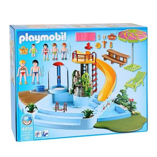 playmobil 4858 piscine et toboggan