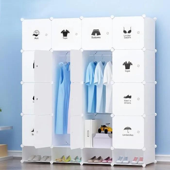 jeobest armoires etageres plastiques penderie