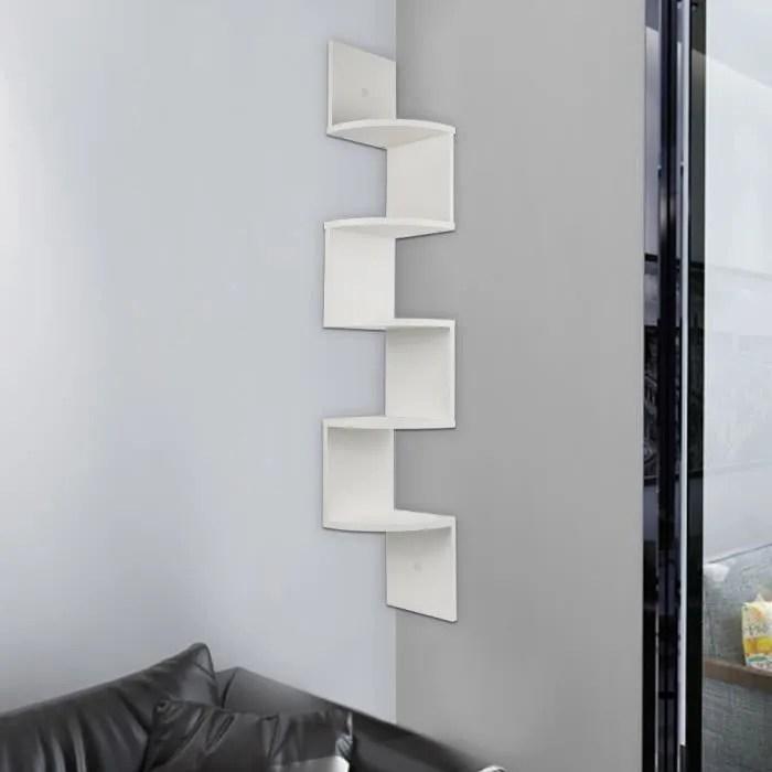 etagere d angle design contemporain zig zag 5 nive