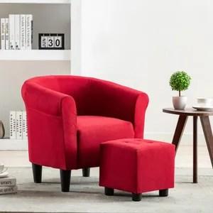 fauteuil rouge soldes cdiscount maison