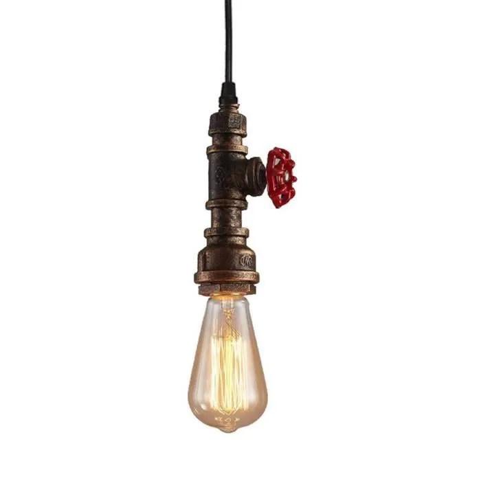 suspension luminaire industrielle vintage tube d e