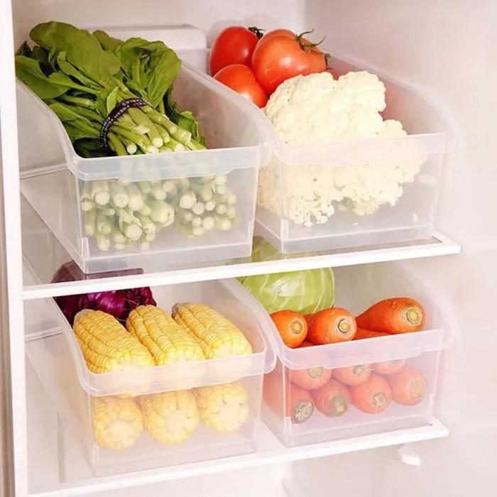 boite de rangement de refrigerateur de cuisine boite de rangement transparente de boite de nourriture kinjgoki 271