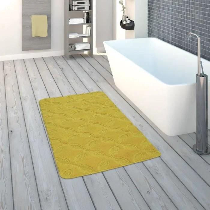 tapis de bain tapis a poils ras pour salle de bai