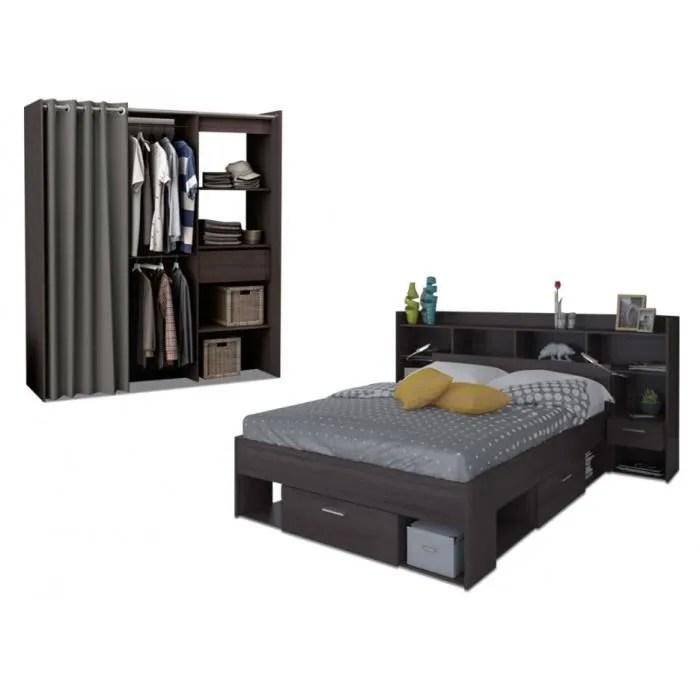 pack chambre kylian lit tete de lit