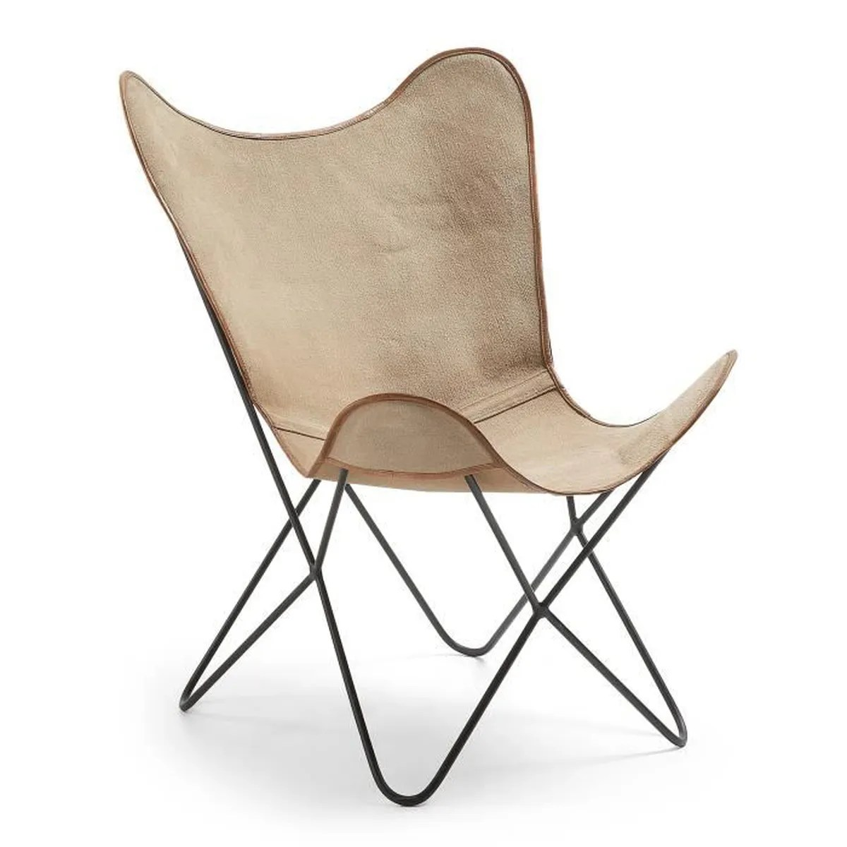 fauteuil fly toile beige achat
