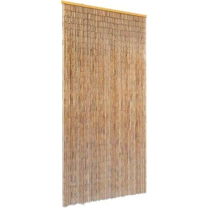 rideau de perles de bois