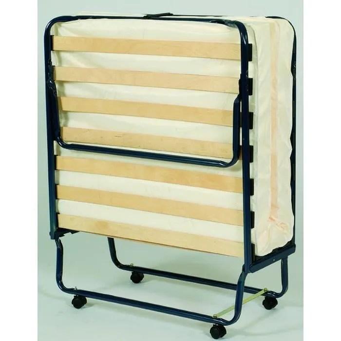 lit d appoint pliant 90 x 190 cm blanc