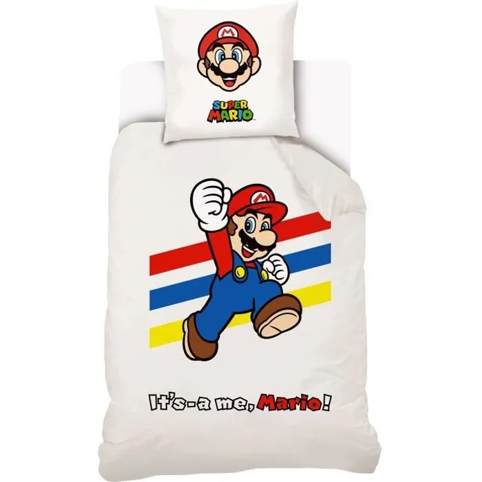 The major prize was a trip for 4 to america to visit the nintendo world store with $1000 spending money. Parure De Lit Mario Coton Cdiscount