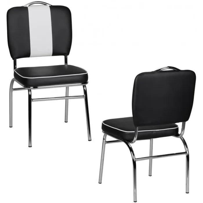 chaise retro american 50amp rsquo s 60amp rsquo s diner noire