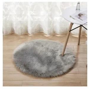 tapis rond gris 90cm