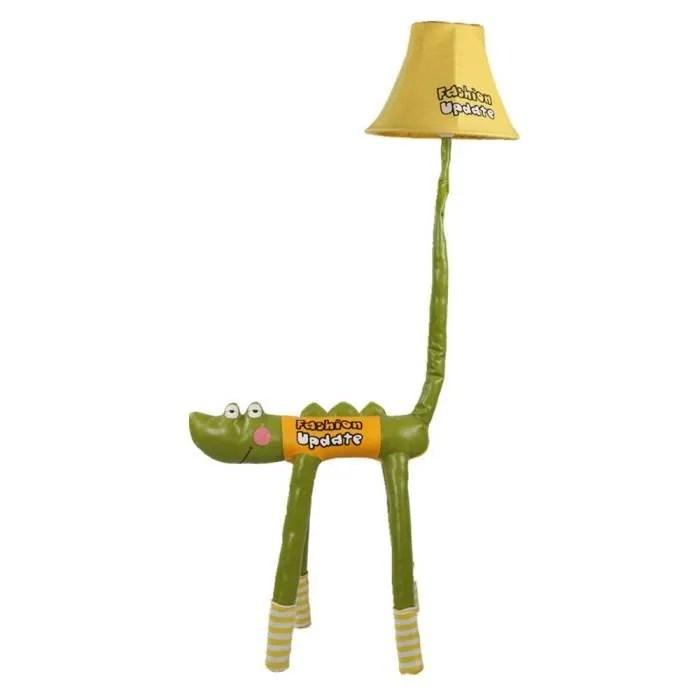 lampe de plancher pour enfant crocodile en tissu v