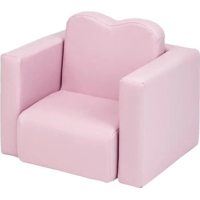 canape enfant 2 en 1 table et chaise multifonctionnelles pour enfant rose