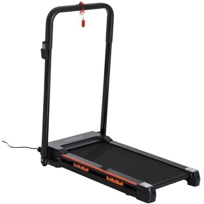 tapis roulant electrique de marche 370 w pliable telecommande ecran lcd vitesse 1 6 km h acier noir neuf 31