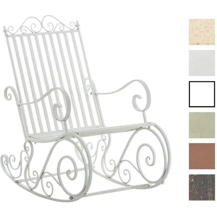 clp fauteuil bascule en fer forge smilla chaise d