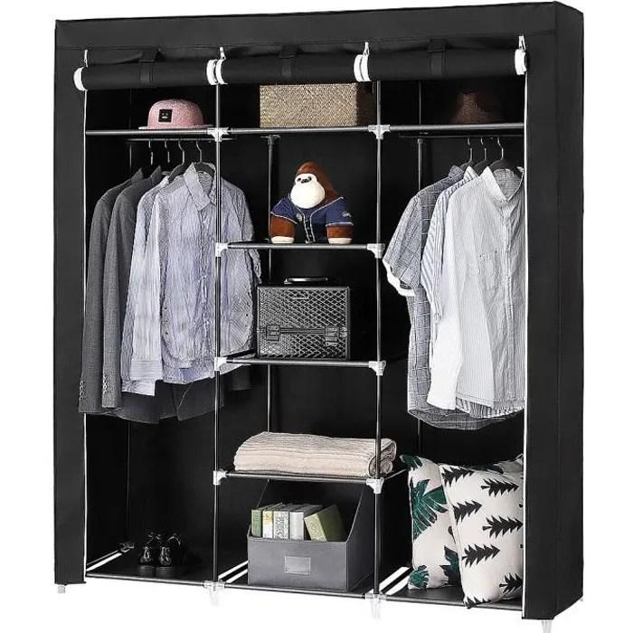 armoire toile dressing simple penderie de vetement