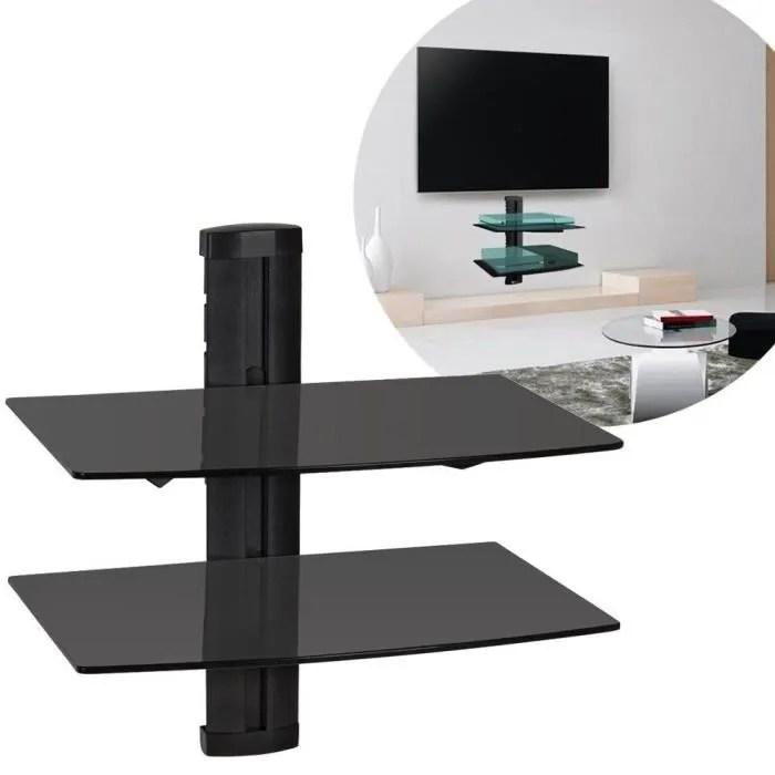 laras 2 etagere en verre plasma tv support mural s