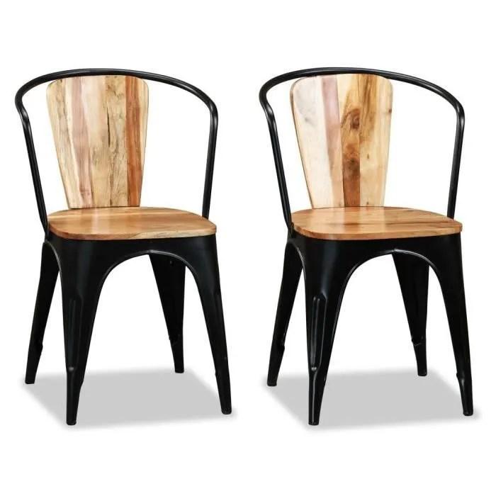 chaise indus murray metal couleur principale noir lot x2