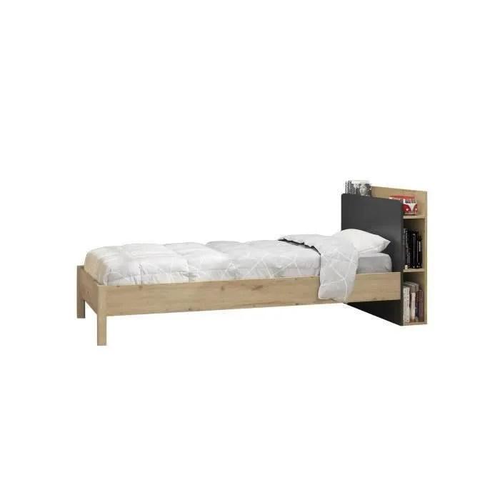 lit enfant avec tete de lit rangement