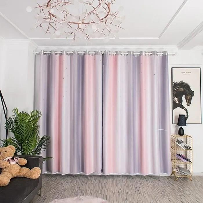 rideau double couche decoration de rideau 1 x