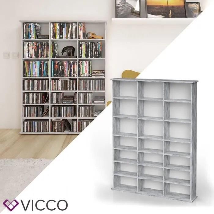 etagere multimedia vicco jukebox cd dvd blu ray