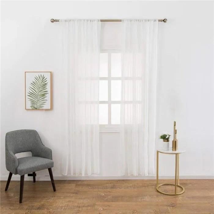 rideaux voilage moderne pure lin tulle rideaux sal