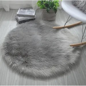 tapis rond gris cdiscount maison