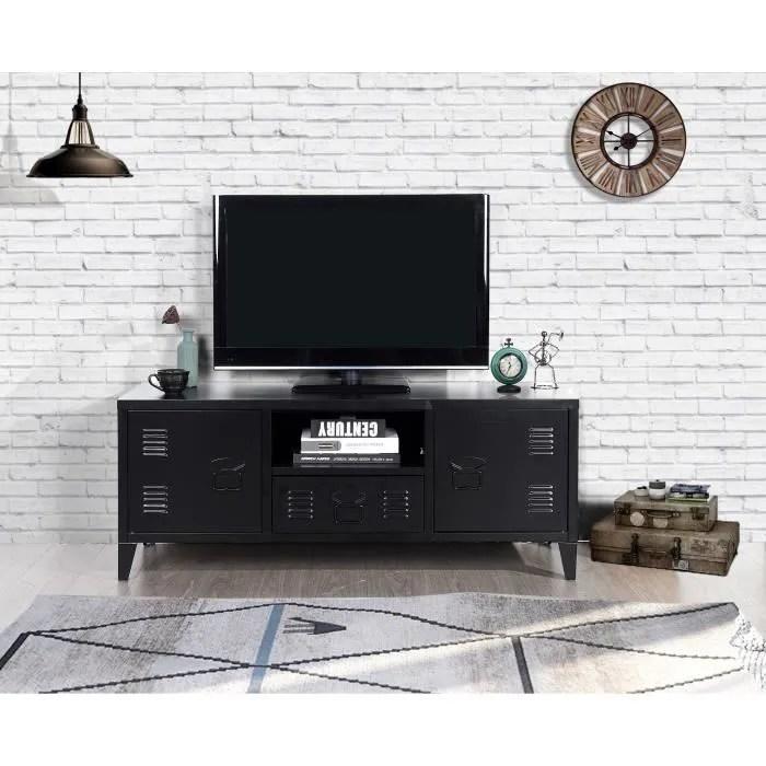 liverpool meuble tv en metal 2 portes 1