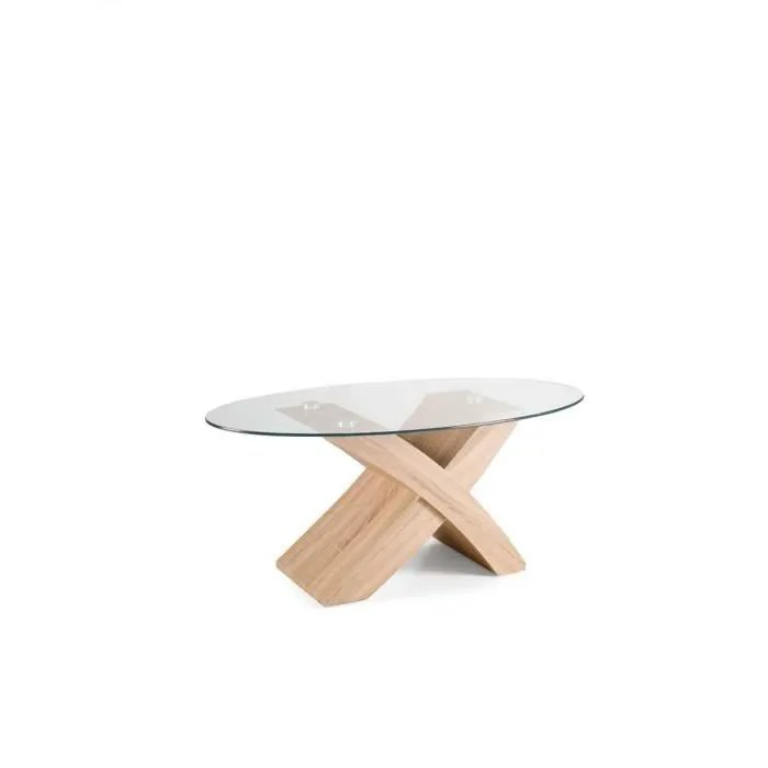 table basse ovale tito avec plateau en