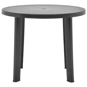 table de jardin ronde en plastique