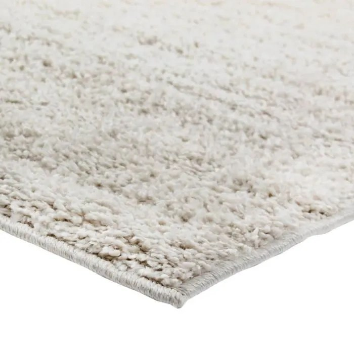 tapis ecru aspect laine extra doux