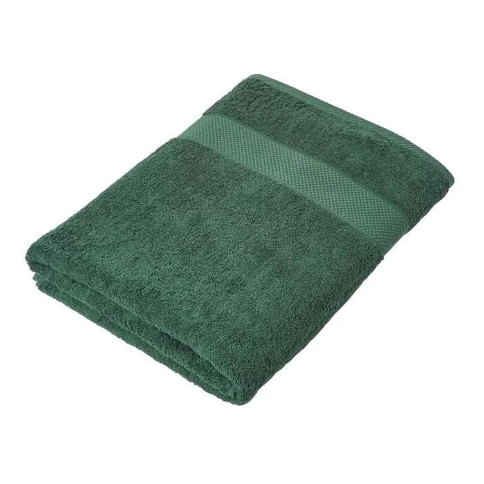 maxi drap de bain 100 coton vert fonce