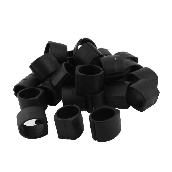 pieds embouts de chaise meubles en plastique pied tuyau pince pour capuchons en forme de u lot de 30 coussinets